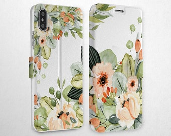c20551d903f6 Watercolor Case Xs Max Hard Case iPhone 10 Wallet Card Holder 7 Plus Flip  Case iPhone 8 Phone Case iPhone 6s iPhone Xr Cover Magnetic Snap