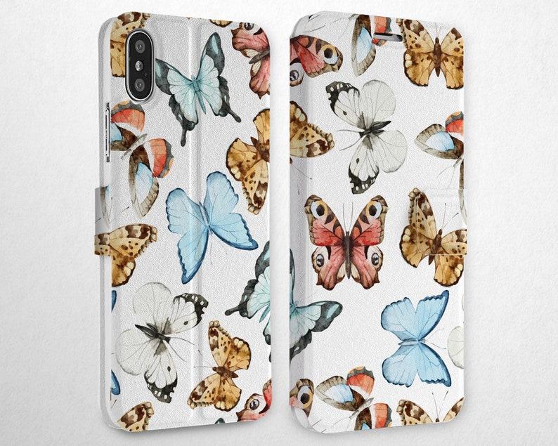 iphone xr flip case butterfly