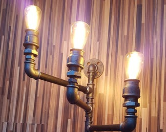 3-Armed tube wall lamp