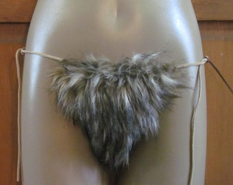 Novelty Fun Faux Furry G-String Underwear
