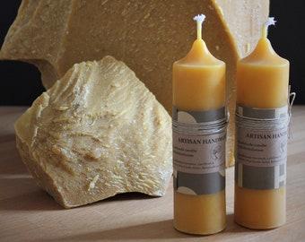 100% Bee Pure Beeswax Pillar Candles