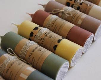Soy & Beeswax Handmade Stick Candles