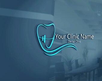 dentist logo dental logo tooth logo custom logo etsy