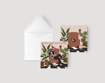 Happy birthday girl - Greeting card