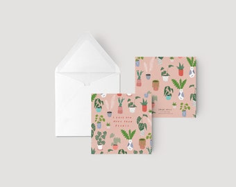 I love you more than plants - Greeting card