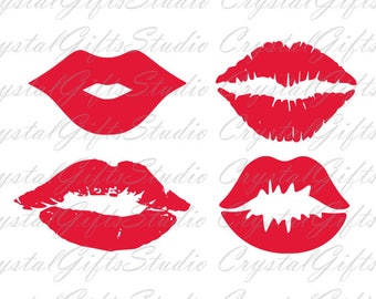Lips svg, kiss svg, mouth svg, lipstick svg, svg files for cricut, dxf files, silhouette, svg, dxf, instant download