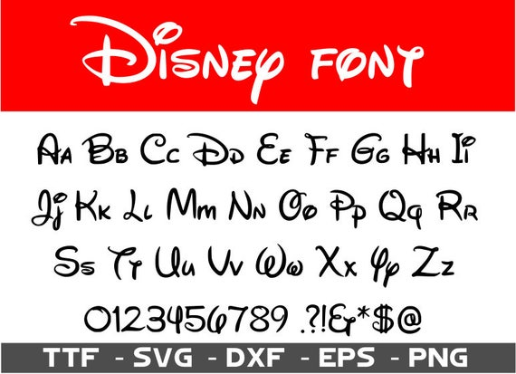 walt disney fonts - Parfu kaptanband co