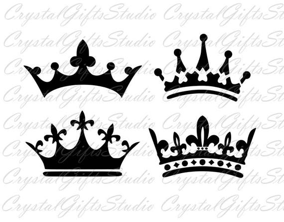Crown Svg King Crown Svg Queen Crown Svg Princess Crown Etsy