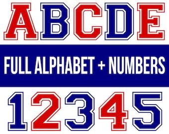 Varsity font svg, varsity letter svg, varsity numbers svg, college font svg, sports font svg, sports number svg, svg fonts for cricut, dxf