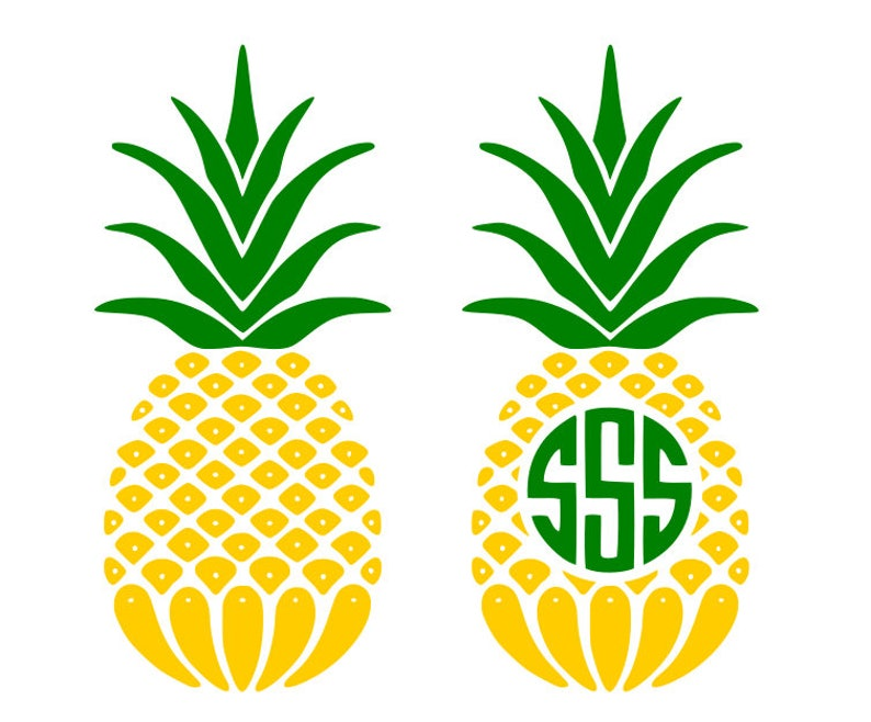 7df97638da2 Pineapple heart svg Pineapple monogram frame svg pineapple