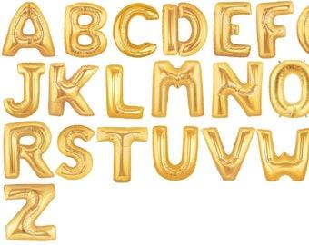 16 gold custom balloonbanner custom letters gold letter balloons gold 16 letter balloons gold word balloon