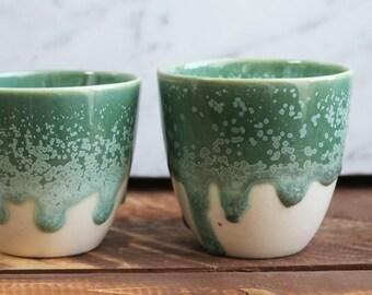 Espresso Cup - Green/White