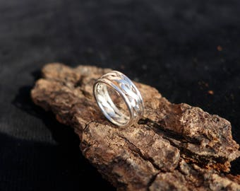 Silver braided wire ring