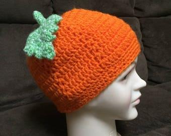 Pumpkin Crochet Hat (3-5 years)