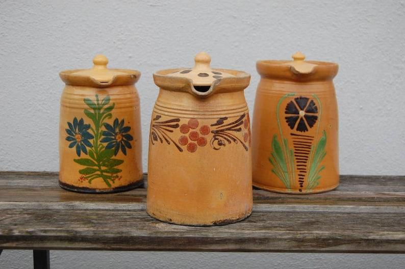 Ceramika Stare Garnki Ceramika Vintage Kuchnia Xix Wieku Etsy