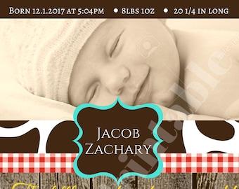 Little Cowboy Baby Shower Invite
