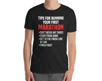 29c4ad1e7 Funny Marathon runner t Shirt Cool First Marathon tips tshirt for Women