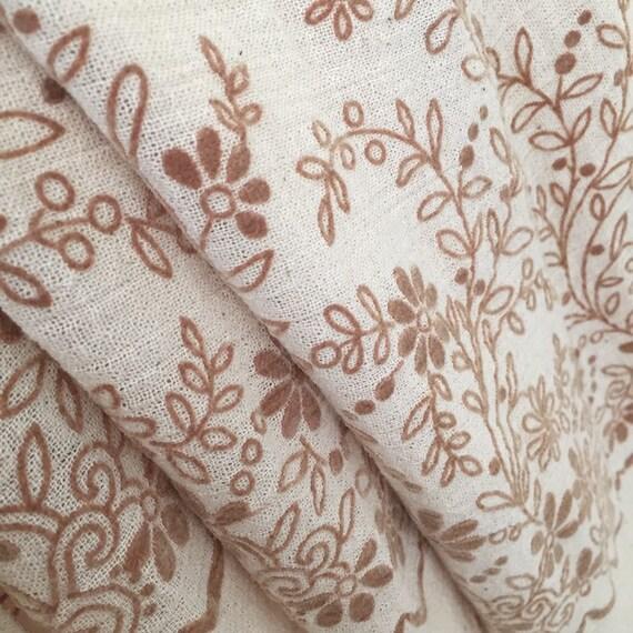 Vintage Textured Cotton Gauze 70's Floral Boho Pr… - image 8