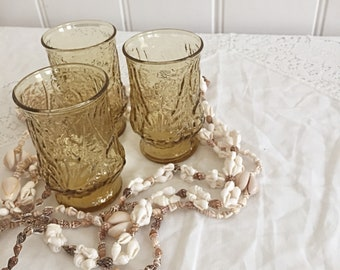 REDUCED - Set Of Three Small Vintage Drinking Glasses