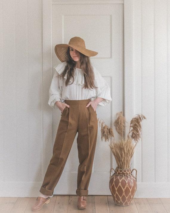 Vintage Brown Woolen 80's Trousers
