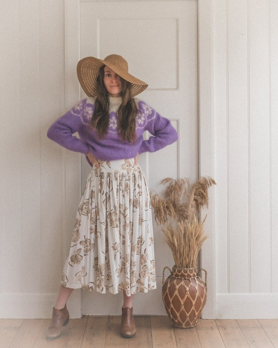 Vintage Lilac Mohair Jumper