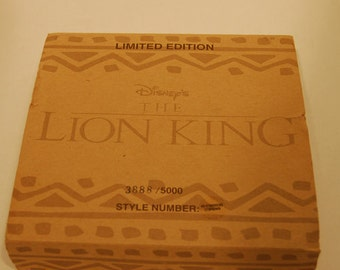 1994 Limited Edition Lion King Watch by Disney in original packaing with pin