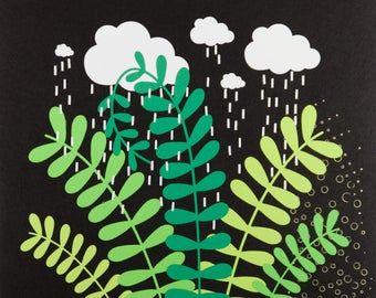Rain Cloud over a Plant (2018-15)
