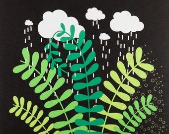 Rain Cloud over a Plant (2018-15)