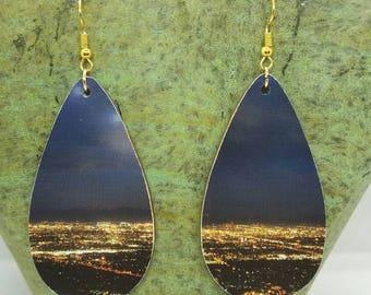 City Lights Collage Teardrop Earrings