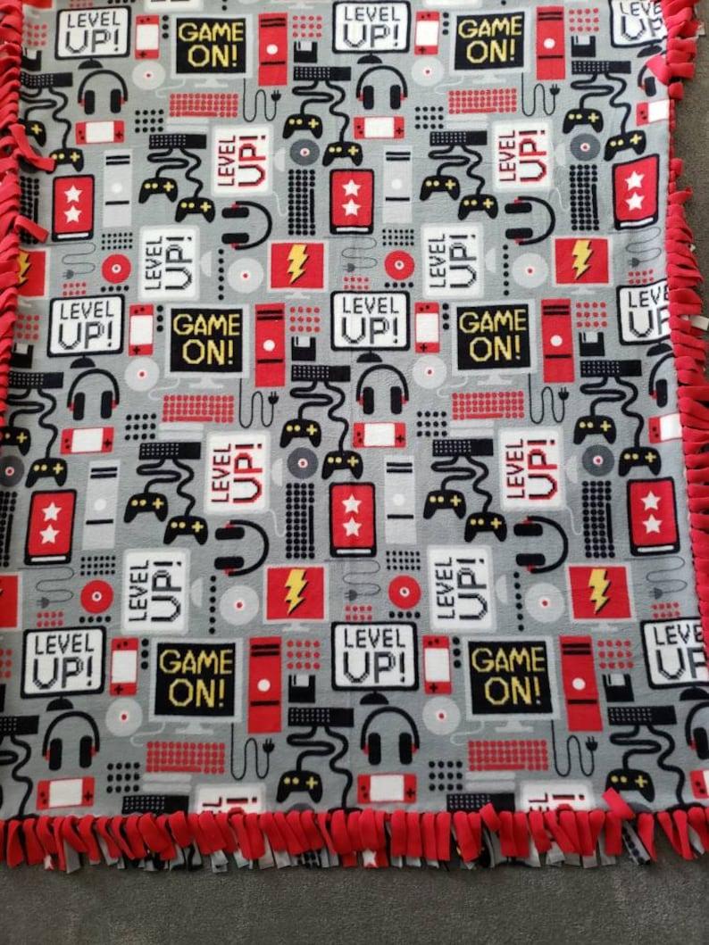 Video Game No Sew Plush Fleece Blanket