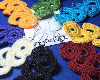Long crocheted earrings Fashion crochet earrings Earrings crochet