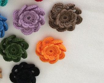 Crochet embroidery flower  , Flower crochet