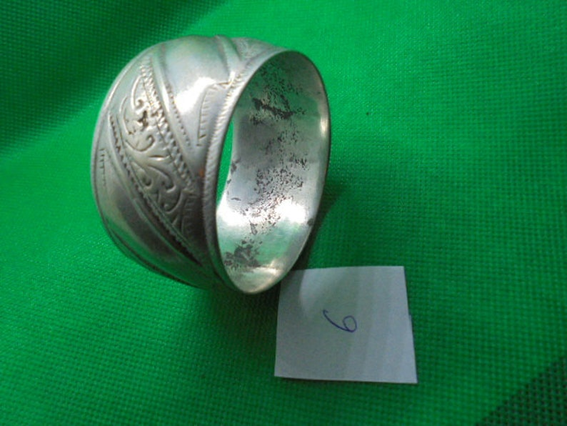 finest silver 2 38 inches diameter antique very worn Atlas silver dowry bracelet Moroccan Jewelry