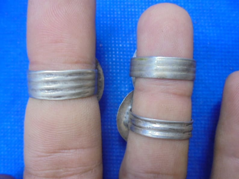 lot 3 Berber silver Moroccan Jewelry 8 12 7 34 sizes USA 6 34 nielo Akhsas flower rings