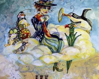 Poppins Smoke cloud A4 PRINT