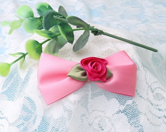 flower bow knot rose bow ties 4pcs cute and beautiful bows for headwear clothes decoration wedding
