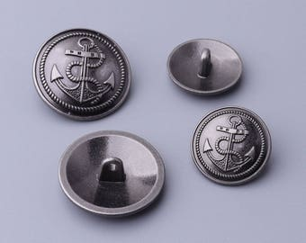10 pcs black button metal,23/18 mm vintage embossed button with shanks,fashion shirt buttons for shirt, sweater.