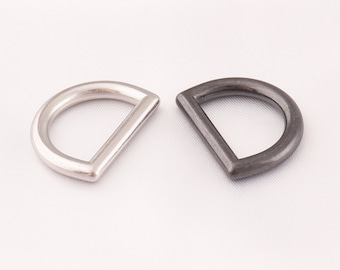 22mm 15mm(inner) D-rings  D ring  belt buckle  10pcs bag buckle  silver and  light black D ring  belt loops  purse buckle  webbing buckle a348f76d2728