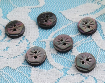 Packet 10 x Black//White Resin 11mm Round 2-Holed Sew On Buttons HA14545