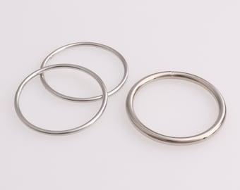 O-Ringe vernickelt 12,16,18,20,25,30 mm Stahl Rundring O-Ring Ringe Metallring