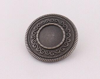 5 x black Decorative Coat buttons shank on back 15mm 20mm 23mm 28mm