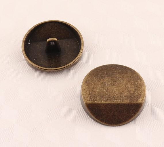 Metall  Knopf Knöpfe 20 stück gold      12 mm     #166#