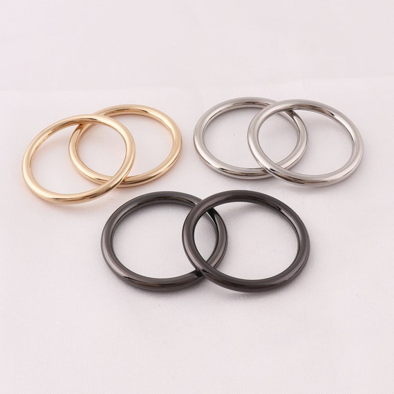 Flat Metal WELDED O-Rings ~ 20mm inner dia ~ Small ALLOY Leathercraft BUCKLES