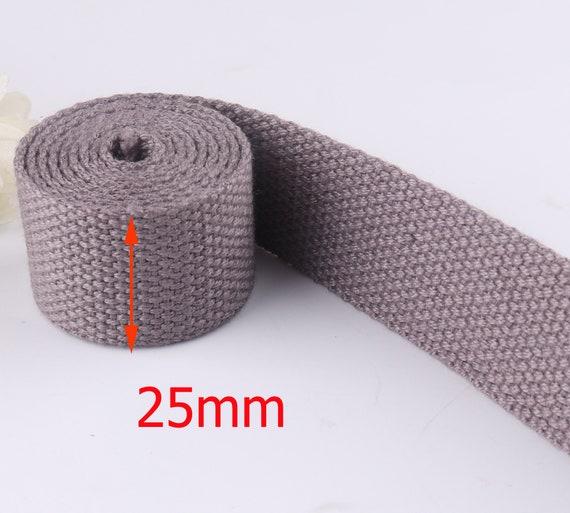 10Yards 1Inch Wide Strap Nylon Webbing Knapsack Strapping Safety Belt,Navy Blue 25Mm