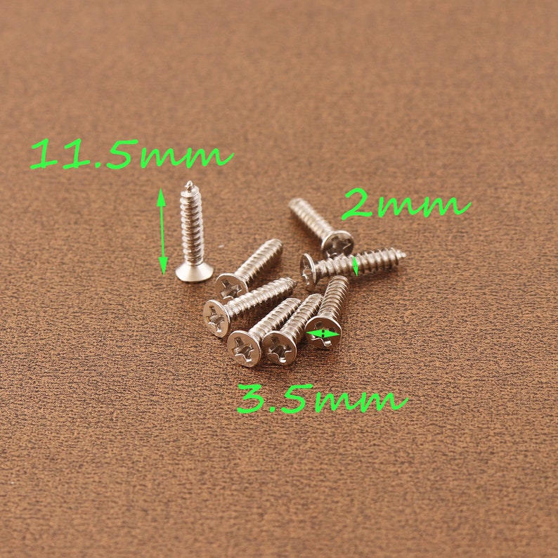 3.5*11.5mm silver screw metal screw 300pcs wood screws hinge screws cross screw restoration hardware