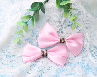 pink bowknot bow ties bows girl headwear cute clothes ties clothes decoration 4pcs knot bow hair accessories