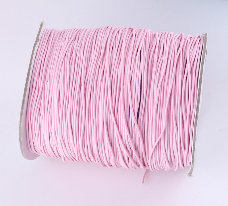 PinkYellow Elastic Cord,Personalized mask rope,Round Elastic Band Sewing for mask Knitting,Arts/&Craft Accessories,Clothing-1.5mm