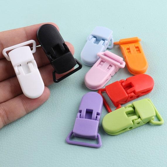 10//20 Pcs Metal Clips Insert Baby Pacifier Dummy Holders Pacifier Suspender Hook