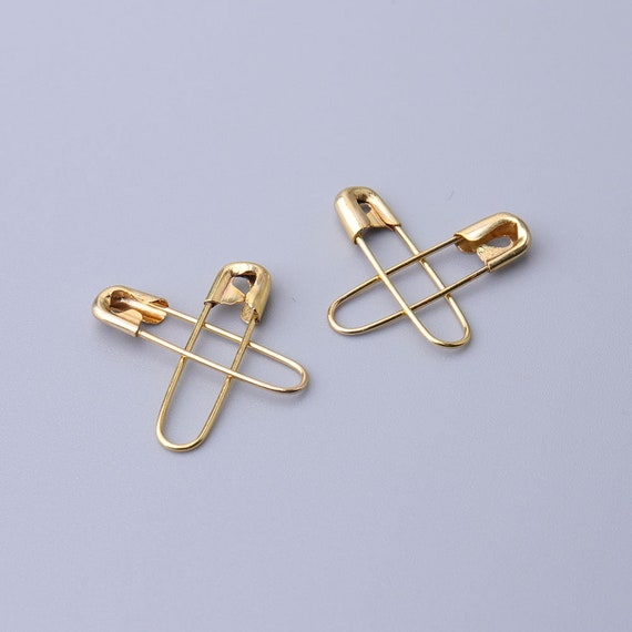 50pcs gold safety pins brooch pins clothing pins 20*4mm kilt pins metal  safety pins for fastening clothes