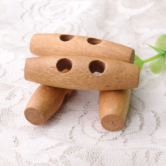 20mm Natural Wooden Toggle Buttons